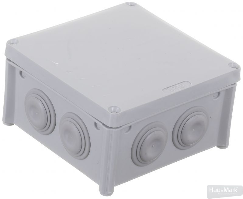 Коробка распределительная с крышкой HausMark пластик IB006