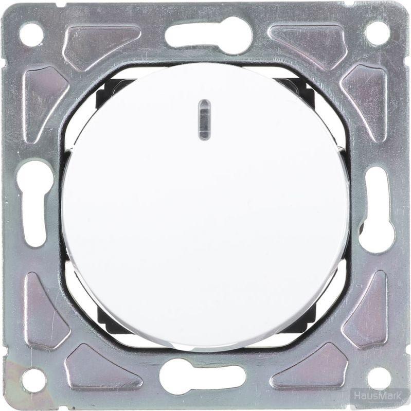 Выключатель одноклавишный HausMark Bela с подсветкой 10 А 250В белый SNG-SWP.RD20MG1W1L-WH