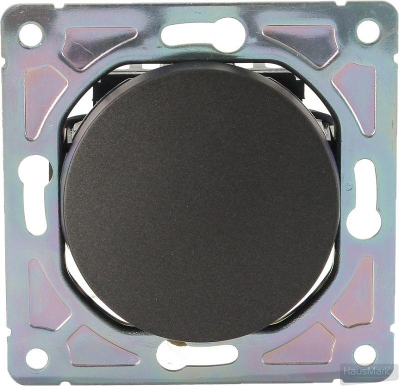 Механизм выключателя одноклавишный HausMark Bela без подсветки 10 А 220В черный SNG-SWP.RD20MG1W1-BK