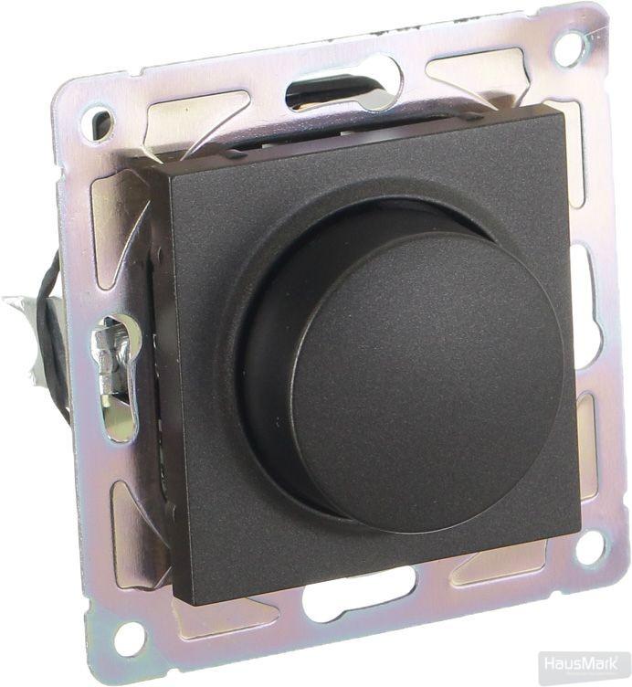 Светорегулятор HausMark Alta 3 Вт черный SNG-SWP.SQ20MG1D-BK