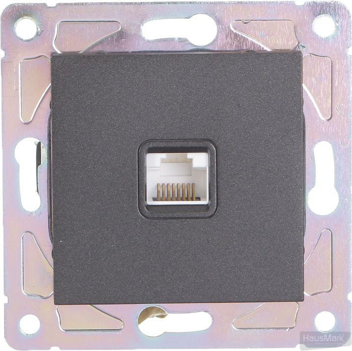 Механизм розетки компьютерная HausMark Alta черный SNG-SCP.SQ20MG1PC-BK