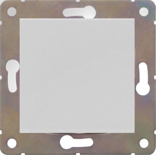 Выключатель одноклавишный HausMark Alta без подсветки 10 А 220В белый SNG-SWP.SQ20MG1W1-WH
