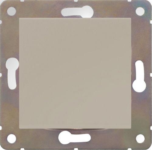 Выключатель одноклавишный HausMark Alta без подсветки 10 А 220В кремовый SNG-SWP.SQ20MG1W1-CR