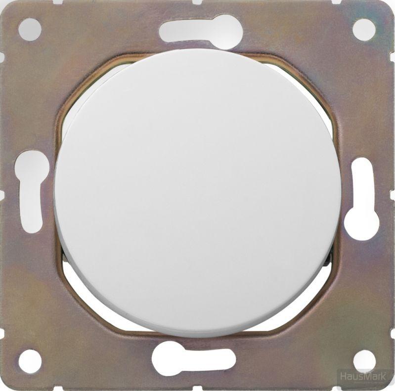 Выключатель одноклавишный HausMark Bela без подсветки 10 А 220В белый SNG-SWP.RD20MG1W1-WH