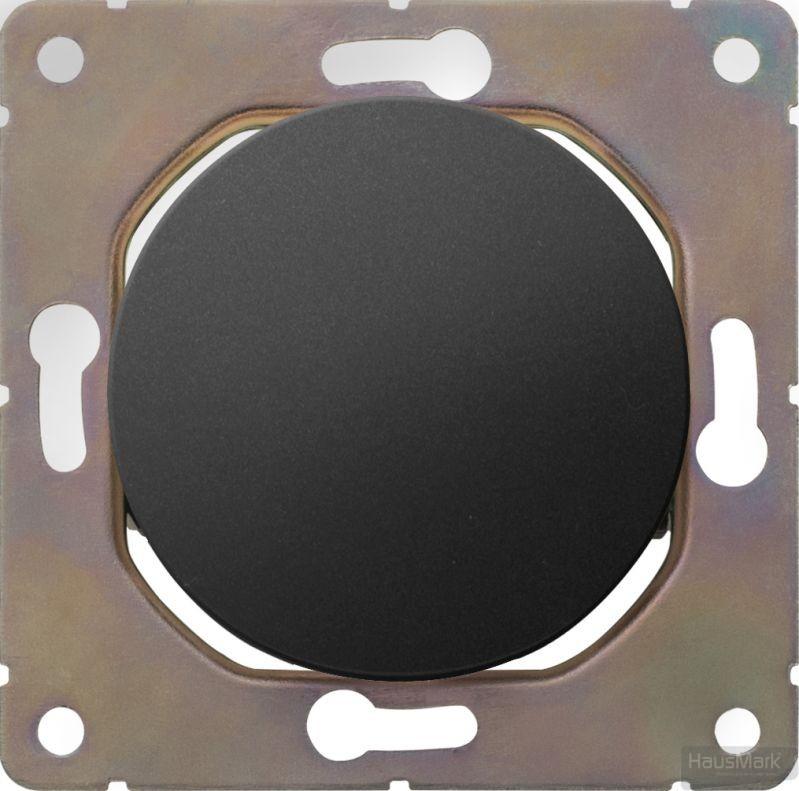 Накладка на механизм выключателя одноклавишный HausMark Bela без подсветки черный SNG-SWP.RD20MG1W1-BK