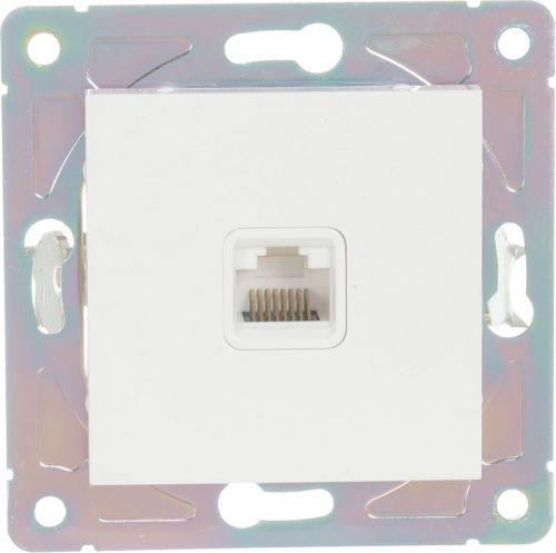 Розетка компьютерная HausMark Alta белый SNG-SCP.SQ20MG1PC-WH