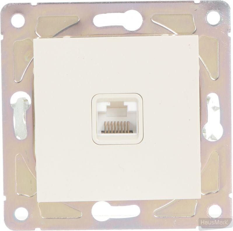 Розетка компьютерная HausMark Alta кремовый SNG-SCP.SQ20MG1PC-CR