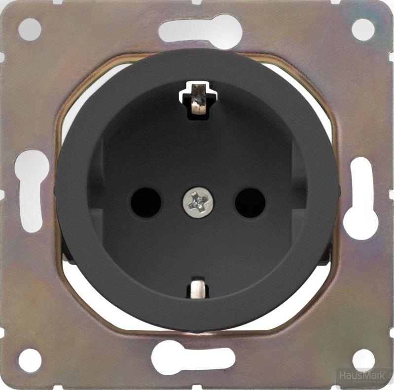 Панель розетки HausMark Bela черный SNG-SCP.RD20MG1WG-BK